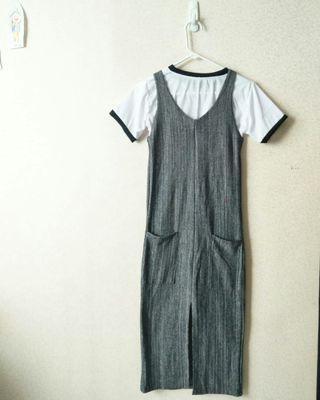 Grey Dress bahan super tebel