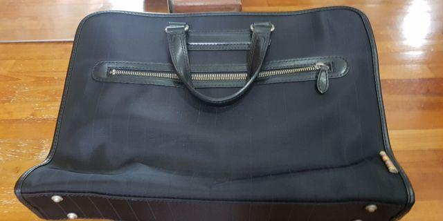 Authentic Paul Smith 2WAY Briefcase Business Bag Men's Black Nylon Leather