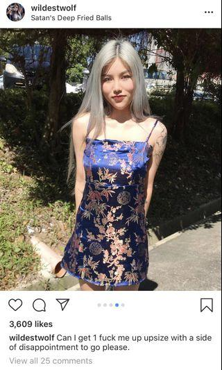 Oriental Satin Embroidery Dress
