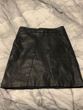 Bardot leather skirt size 8 I bought it in the wrong size and forgot to take it back