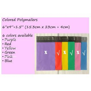 Small Poly Mailer Bags in Various Colors   Polymailer   Mailing Pouch   Mailer Bag   Packaging   Packing Material