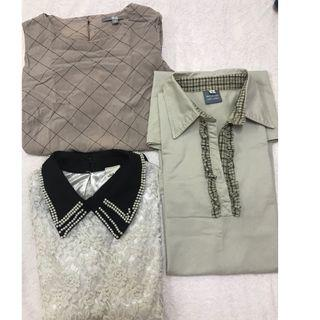 Preloved 3 pcs dress and blouse ALL RM35 only