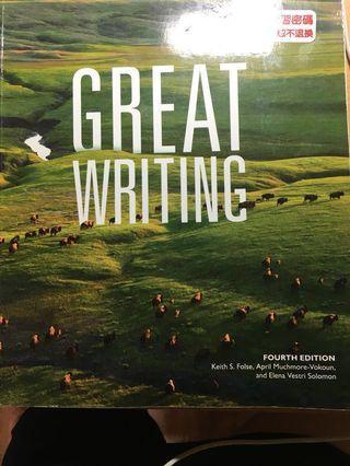 🚚 八成新great writing 4th