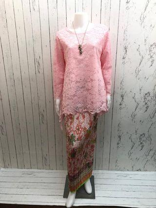 Baju Kurung Lace Kain songket