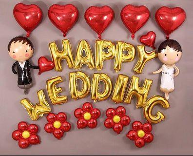 Happy wedding balloons