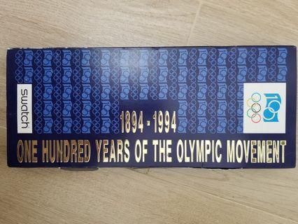 Swatch Chrono I.O.C 1894-1994 100 years of the Olympic Movement