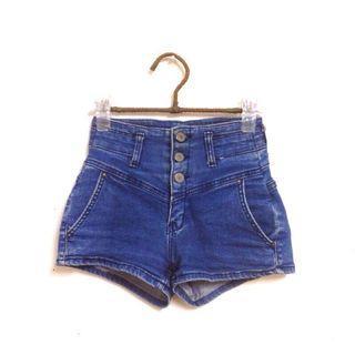 🚚 Kedi 小舖  高腰深藍牛仔短褲