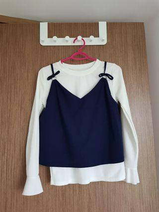 Blouse with strappy crop