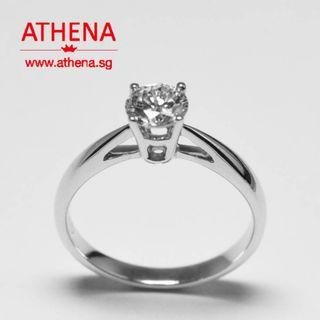 JEWELLERY 18K JW_DR_1318  SOLITAIRE DIAMOND RING ( FROM SOO KEE JEWELLERY ) D1-0.50CTS [ G/VS2 ] 2.30G [ NGI CERT. ]