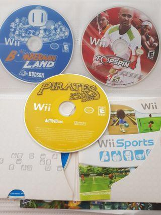 9sgd each - 4 wii games for 36sgd