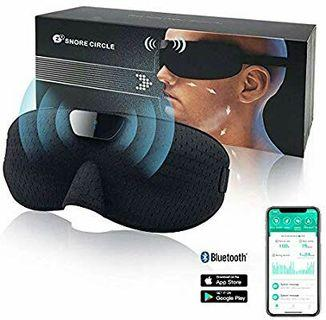 Anti Snoring Devices, Snoring Solution Device Smart Snore Stopper Snore Reducing Sleep Aids, Smart Snoring Eye Mask for Women and Men, Bluetooth Technology Records and Analyzes Sleep Datas