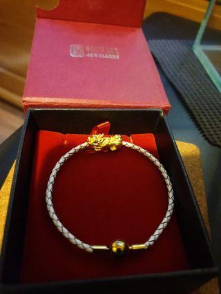 999 Pure Gold Pixiu Bracelet