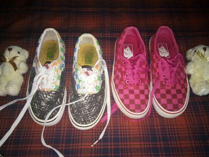 2 pairs Vanz shoes Original.