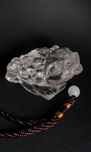 🚚 Clear Crystal Quartz 85 x 65 x 45mm (h)