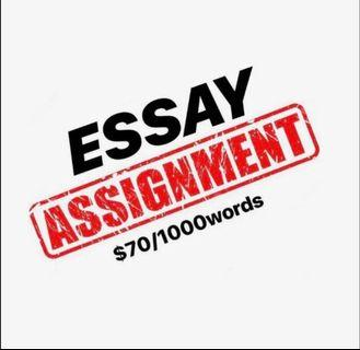 Essay/Assignment Help