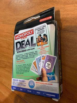 Monopoly Deal card game 大富翁纸牌交易遊戲卡 (另包 杯墊x2個)