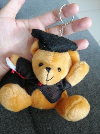 Graduation Bear Keychain