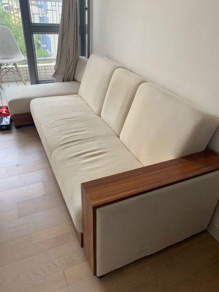 FREE Off White Sofa Bed w/ Storage