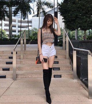 INSTOCKS Checkered Tube Top
