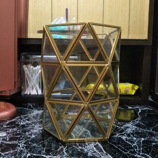🚚 六角壓克力玻璃收納筒