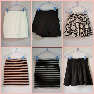 Skirts $6 each