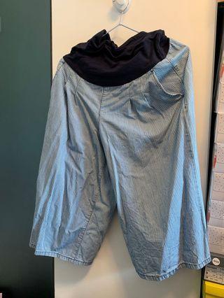 大肚褲,七分闊腳褲,購自日本無印