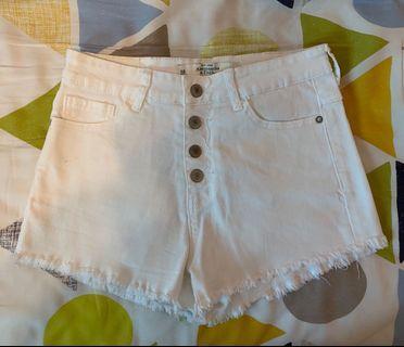 Abercrombie & Fitch White Denim Shorts