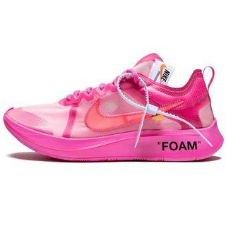 NIKE OFF-WHITE X ZOOM FLY 粉
