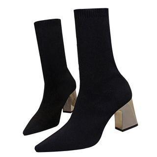 🚚 韓國新款熱銷針織銀根襪靴·尺碼36-40