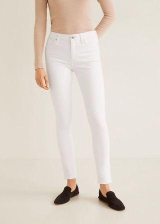 Mango MNG White Skinny Jeans