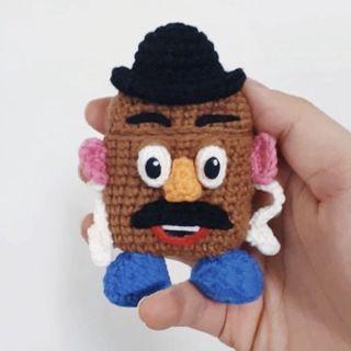 Toy Story Mr. Potato Head Handmade Airpods Case Crochet