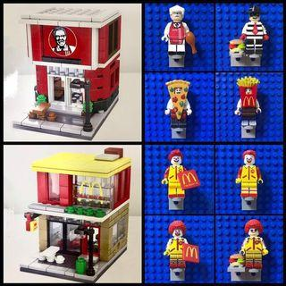 BN mini fast food store and Minifigures