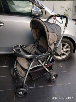 Used baby stroller with strap for safety
