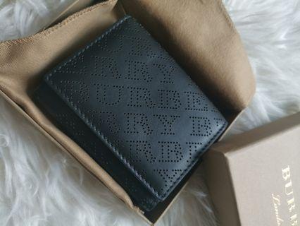 Burberry 暗紋 銀包 wallet