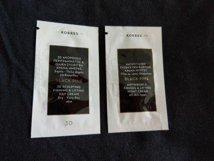 Korres Black Pine day n night cream sample size