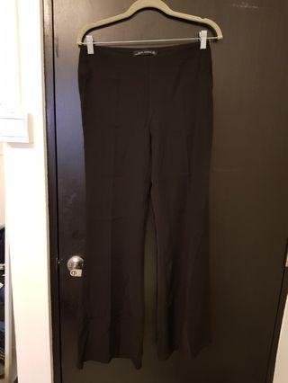Zara black flare pants (M)