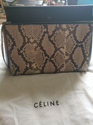 Celine two way 兩用 蛇紋 snack pattern bag
