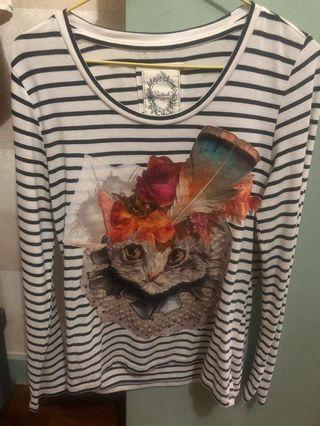 長䄂貓貓衫