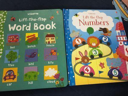 Usborne lift-the-flap word book numbers 立體書 翻翻書