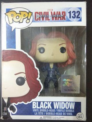 Funko POP! Marvel Civil War Action Figure -BLACK WIDOW