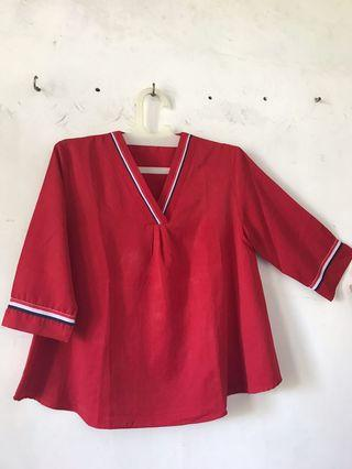Red Blouse / Crop