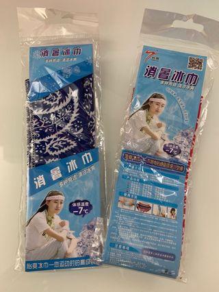 包郵消暑冰巾x2