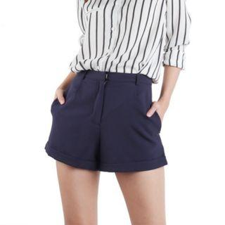 🚚 thetinselrack keepers tailored shorts in navy blhe