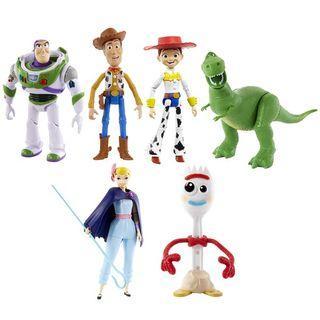 "PO: Disney/Pixar Toy Story 4 True Talker  7"" Figure - Woody, Buzz Lightyear, BoPeep, Forky, Jessie &  Rex"
