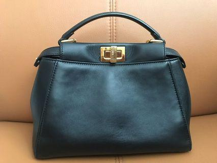 100% Authentic Fendi Peekaboo Mini Handbag