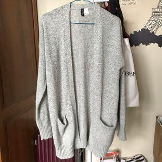 h&m long knitted cardigan