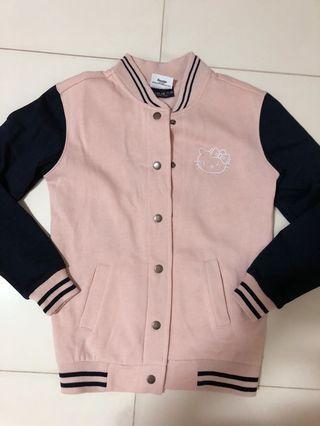 Navy Pink Hello Kitty Embroidery Jacket 2019