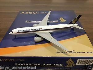 JC Wings Singapore Airlines 1:400 A350 SQ A350XWBAirbus nt boeing
