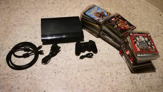 PS3 RM650 include games, console and controller