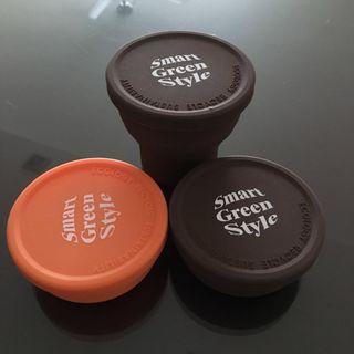 $4.50 mailed for 3 smart green style recycle cups